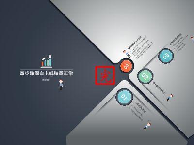 四步确保白卡纸胶量——欧阳博文 PPT制作软件