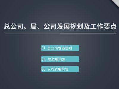 总公司、局发展规划 幻灯片制作软件