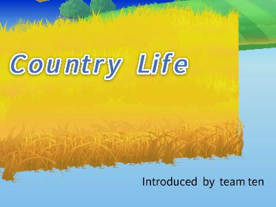 Country life 史上最強PPT