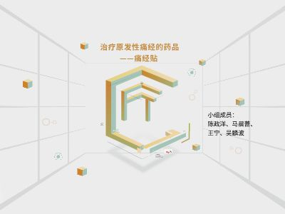 华海杯 治疗原发性痛经的新药——痛经贴 团队 (王宁、马 幻灯片制作软件