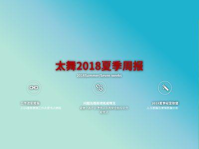 太舞2018夏季经营(营销第七周)工作周报 幻灯片制作软件