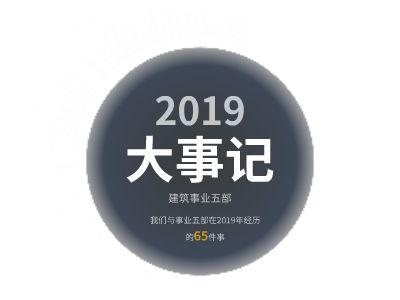 事业五部2019年大事记-自动播放版 幻灯片制作软件