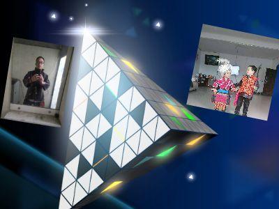 炫彩立體三角