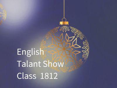 1812班英语才艺秀背景 幻灯片制作软件