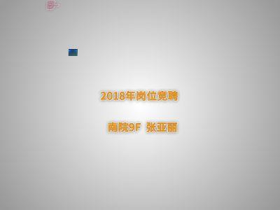 2018年竞聘 张亚丽 幻灯片制作软件