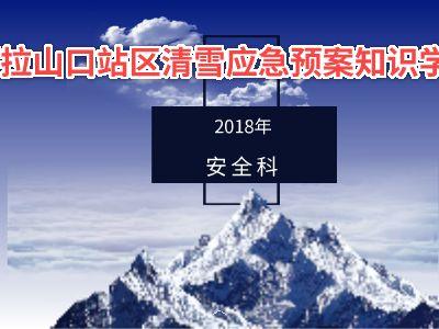 阿拉山口站清雪预案知识学习 幻灯片制作软件