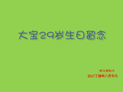 大宝生日快乐2017