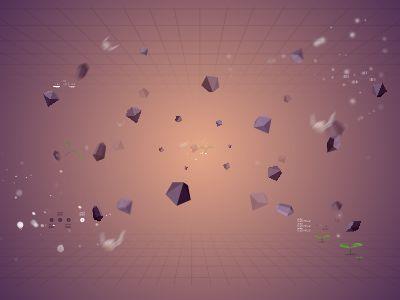3D空間石頭