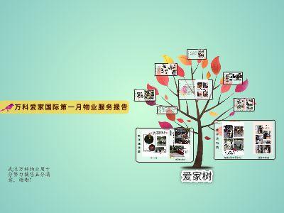 爱家国际第一月物业服务报告 幻灯片制作软件
