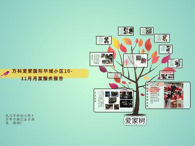 爱家国际10-11月物业服务报告 幻灯片制作软件