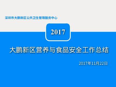 2017年营养与食品安全工作总结 幻灯片制作软件