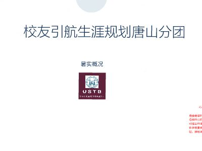 19004011_北京科技大学大学校友引航调研实践团唐山分团实践 幻灯片制作软件