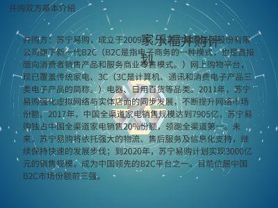 家乐福并购计划 PPT制作软件