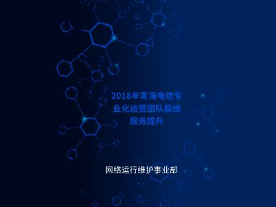 2018年青海电信装维服务提升-支局装维流程梳理及标准动作 PPT制作软件