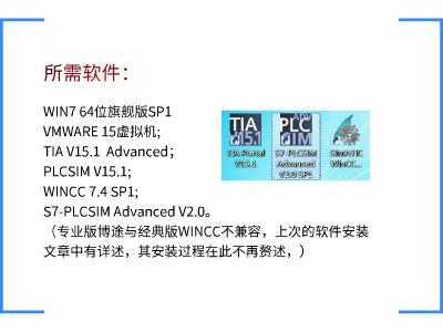 TIA V15.1 advanced 与 WINCC 7.4SP1 通讯仿真