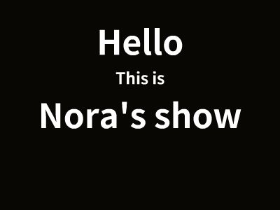 Nora Introduction