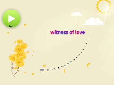 Witness of  love 幻灯片制作软件