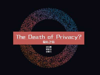 the death of privacy  隱私之殤 PPT制作軟件