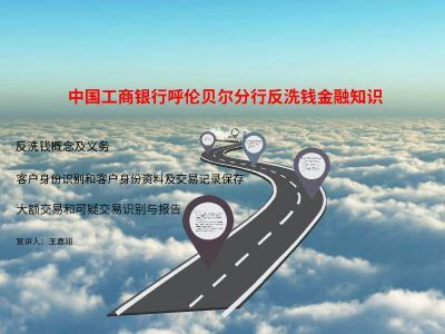 中国工商银行呼伦贝尔分行反洗钱金融知识 幻灯片制作软件
