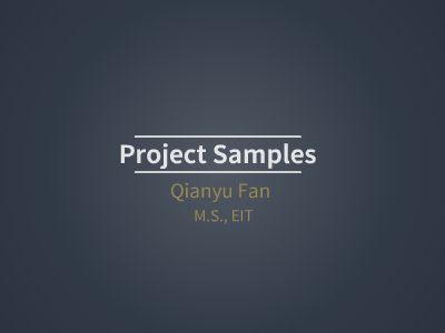 Working Samples_Qianyu Fan