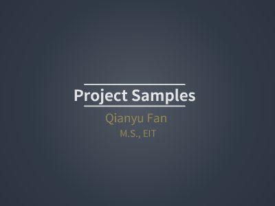 Working Samples_Qianyu Fan