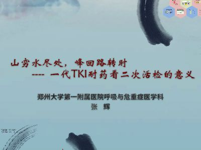 一代TKI耐药看二次活检 幻灯片制作软件