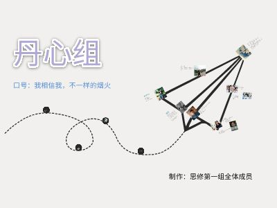 丹心组组员介绍 PPT制作软件
