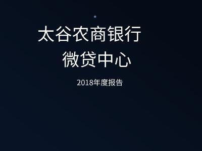 微贷中心2018年度演示文稿 幻灯片制作软件