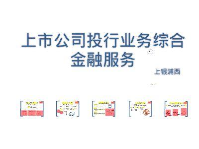 上银浦西上市公司综合金融服务方案_PPT制作软件,ppt怎么制作