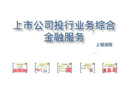 上银浦西上市公司综合金融服务方案 幻灯片制作软件