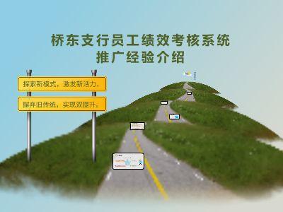 桥东支行绩效考核系统推广汇报 幻灯片制作软件