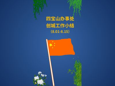 四宝山办事处创城工作小结(8.1-8.15) 幻灯片制作软件