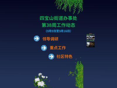 〔图片版〕四宝山办事处第38周工作动态 幻灯片制作软件