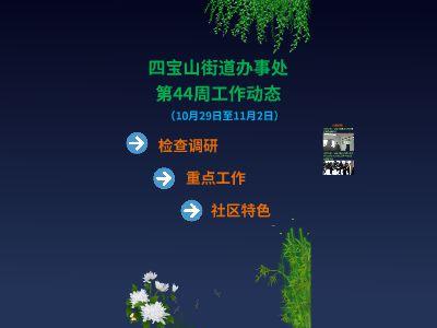 〔图片版〕四宝山办事处第44周工作动态
