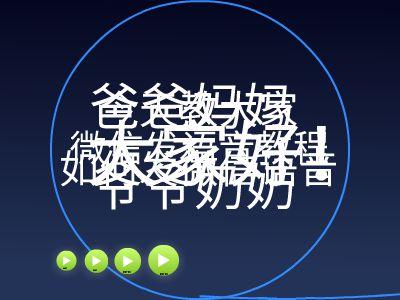 老人使用微信HTM5教程 幻灯片制作软件