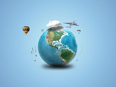 环球旅行-写实 幻灯片制作软件