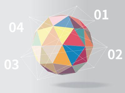 彩色多邊形球體