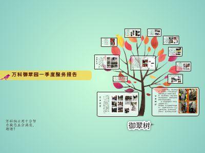 御翠园一季度物业服务报告 幻灯片制作软件