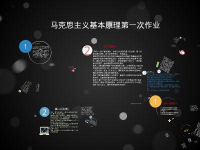 马克思第一次作业(六班1组) PPT制作软件