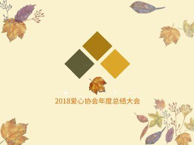 2018爱心协会年度总结大会 幻灯片制作软件