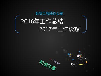 延安工务段办公室2016总结 幻灯片制作软件