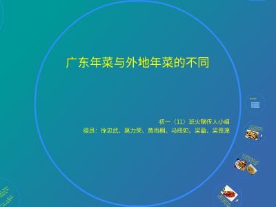 广东年菜与外地年菜的不同 幻灯片制作软件