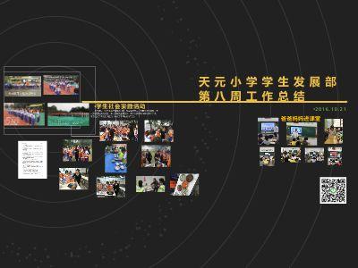 天元小学学生发展部第八周工作总结_PPT制作软件,ppt怎么制作