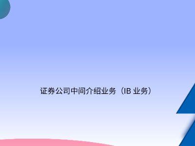 中间介绍业务 PPT制作软件
