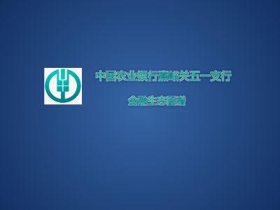 五一支行金融生态图谱 幻灯片制作软件