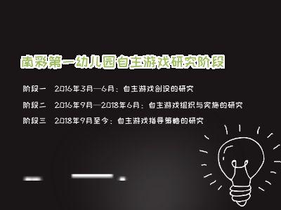 南彩第一幼儿园自主游戏研究历程回顾 PPT制作软件