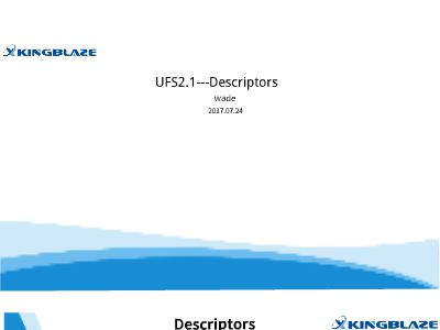 UFS2.1---Accessing Descriptor
