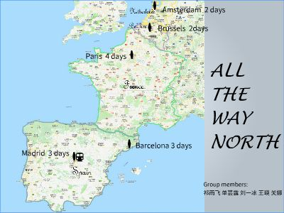 All the way north