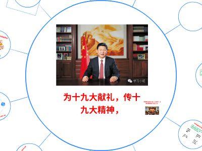 汉中支队学习十九大 幻灯片制作软件