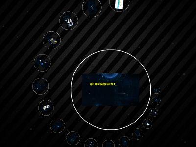 简洁时尚深蓝星空风PPT模板121 幻灯片制作软件